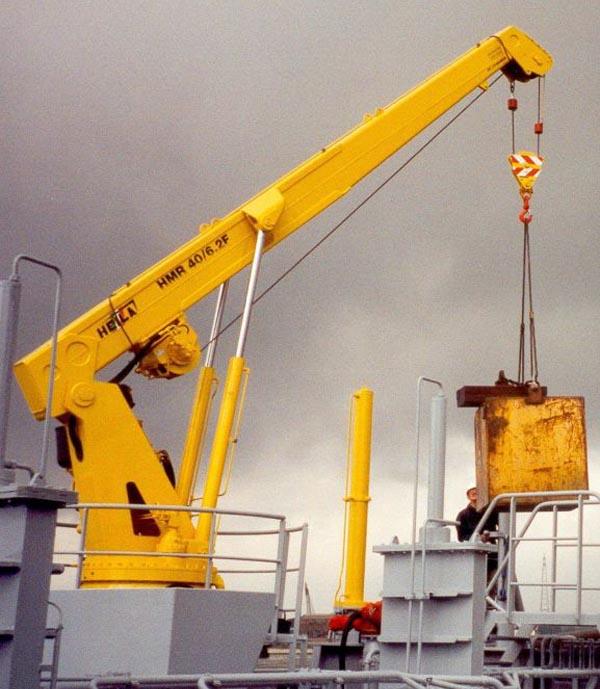 Морские краны со стрелой фиксированной длины